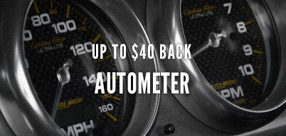 Autometer Up to $40 Back