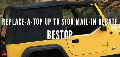 Bestop Replace-A-Top Up to $100 Mail In Rebate