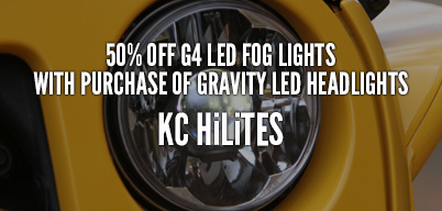 KC HiLiTES 50% Off G4 LED Fog Lights with Purchase of Gravity LED Headlights