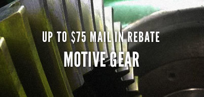 Motive Gear Up to $75 Mail In Rebate
