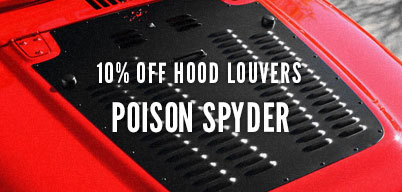 Poison Spyder Hood Louvers 10% Off