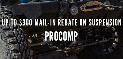 Up to $300 Mail-In Rebate on Pro Comp Suspension