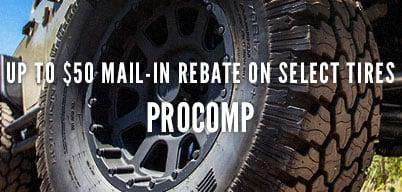 Pro Comp Up To $50 Mail In Rebate on Select Tires