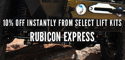 Rubicon Express 10% Off Instantly from Select Lift Kits