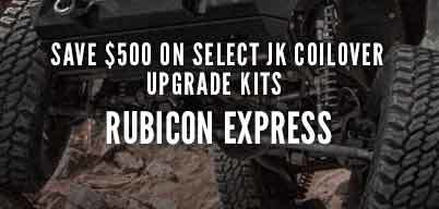 Rubicon Express JK Coilover Upgrade Kit $500 Instant Rebate