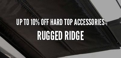 Rugged Ridge Hard Top Accessories Up to 10% Off