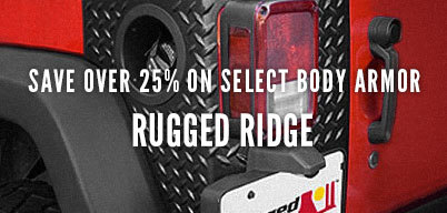 Rugged Ridge Save Over 25% On Select Body Armor