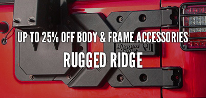 Rugged Ridge Body & Frame Accessories Up to 25% Off