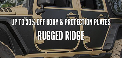 Rugged Ridge Body & Protection Plates Up to 30% Off