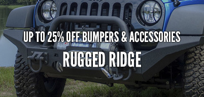 Rugged Ridge Bumpers & Accessories Up to 25% Off