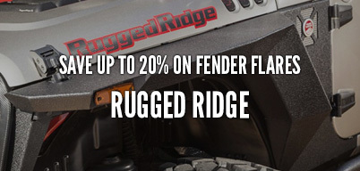Rugged Ridge Fender Flares Save Up to 20%