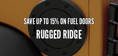 Rugged Ridge Fuel Doors Save Up to 15%