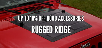 Rugged Ridge Hood Accessories Up to 10% Off