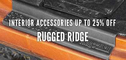 Rugged Ridge Interior Accessories Up to 25% Off