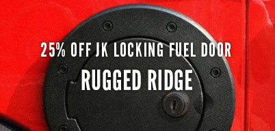 Rugged Ridge JK Locking Fuel Door 25% Off