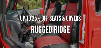Rugged Ridge Seats & Covers Up to 25% Off
