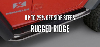 Rugged Ridge Side Steps Up to 25% Off