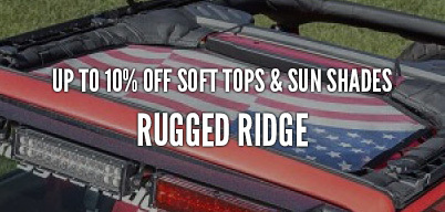 Rugged Ridge Soft Tops & Sun Shades Up to 10% Off