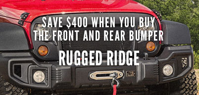 Rugged Ridge $400 Off Spartacus Front & Rear Bumper
