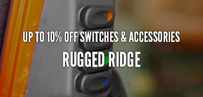 Rugged Ridge Switches & Accessories Up to 10% Of