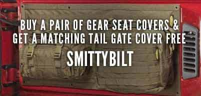 Smittybilt G.E.A.R Seat Covers Free Matching Tailgate Cover