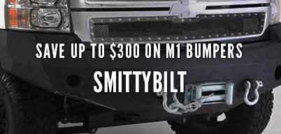 Smittybilt M1 Bumpers Save Up to $300
