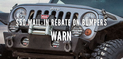 $50 Mail In Rebate on Warn Bumpers