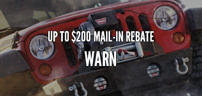Warn Truck Winches Up to $200 Mail-In Rebate