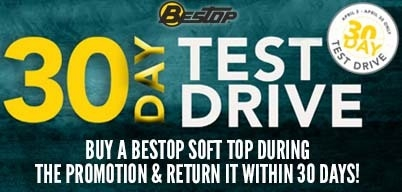 Bestop's 30-Day Test Drive