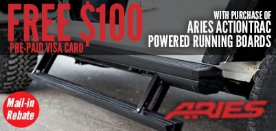 Aries Running Boards - FREE $100 Mail-In Rebate