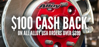 Alloy USA - $100.00 back when you spend $399 or more on all Alloy USA Products