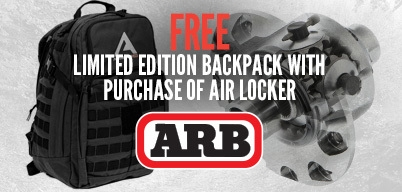ARB Lockers Get a Free Backpack