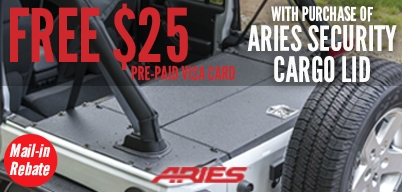 Aries Automotive - Security Cargo Lid $25 Mail In Rebate