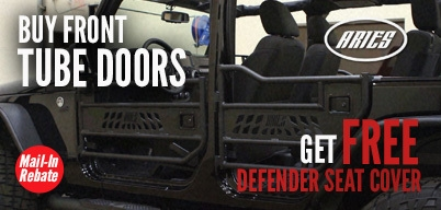 Aries Automotive - Free Defender Seat with Purchase of Tube Doors