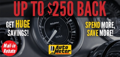Autometer Hod Rod Holiday Rebate Up to $250 Mail-In Rebate