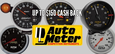 Autometer Tachs Season Up to $150 Cash Back