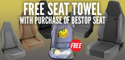 Bestop Get a Free Seat Towel With Purchase of a Seat