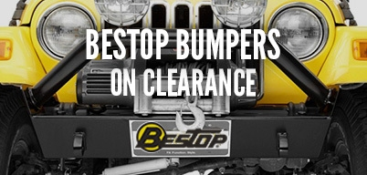 Bestop Front/Rear Bumpers on Clearance