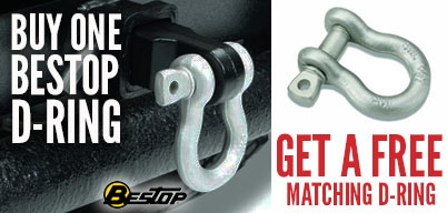 Bestop D-Rings Get the Matching One Free