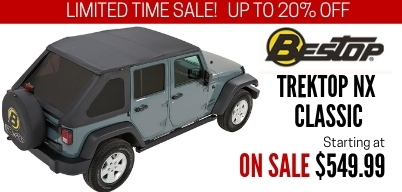 Bestop Trektop NX Soft Tops on Sale