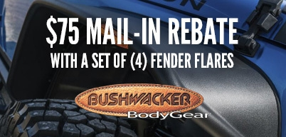 Bushwacker Fender Flares $75 Mail-In Rebate on a Set of (4)