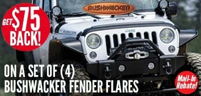 Bushwacker Fender Flare Kit - $75 Mail-In Rebate