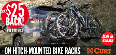 Curt - Hitch Bike Rack Rebate, $25 Back