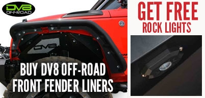 DV8 JK Front Inner Fenders Get Free Rock Lights