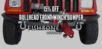 Fishbone Off-Road 15% Off Bullhead Front Winch Bumper