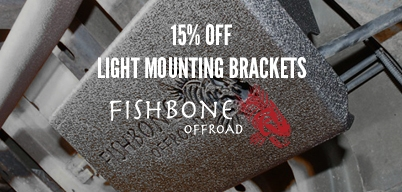 Fishbone Off-Road 15% Off Light Mounting Brackets