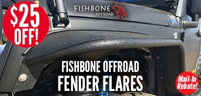 Fishbone Fender Flares $25 Mail-In Rebate