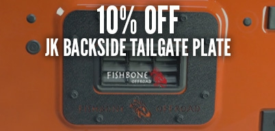 Fishbone Offroad JK Backside Tailgate Plate 10% Off