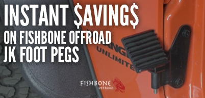 Fishbone Offroad JK Foot Pegs Instant Savings