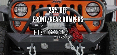 Fishbone Offroad Front/Rear Bumpers 25% Off
